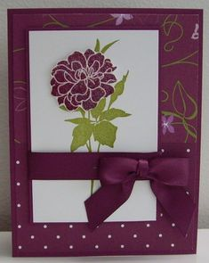 Razzleberry Floret by Loll Thompson - Cards and Paper Crafts at Splitcoaststampers