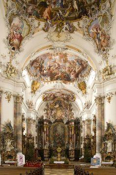 En la basílica de Ottobeuren Abbey en Alemania, construido en el siglo 18.
