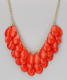 GorgeousTeardrop Cluster Necklace