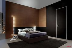 iDOOR - Cuir noir + mur système