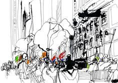 https://flic.kr/p/awzZcY | NYC Liberty Square : Occupy Wall Street | See my full blog entry with more drawings here: juliaidrawings.blogspot.com/2011/10/occupy-wall-street-ny...