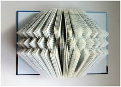 Folded Book Art / Book Sculpture / Book by JoyousReflection Folded Book Art, Paper Book, Book Folding, 3d Paper, Book Page Art, Book Pages, Book Sculpture, Origami, Projects To Try