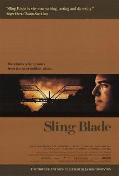 Sling Blade is a 1996 American drama film set in rural Arkansas, written and directed by Billy Bob Thornton, who also stars in the lead role. It tells the story of a mentally impaired man named Karl Childers who is released from a psychiatric hospital, where he has lived since killing his mother and her lover when he was 12 years old, and the friendship he develops with a young boy.