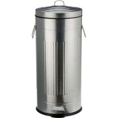 Ultimate Living 30 Litre Retro Kitchen Pedal Bin - Silver with accompanying Knife Sharpener & Guard Knife Sharpening, Retro, Home Accessories, Kitchen Bins, Silver, Diy, Stuff To Buy, House, Bricolage