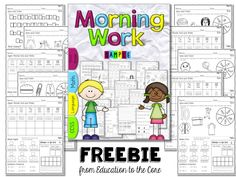 Education to the Core: FREE Sampler! Two Weeks of Morning Work Bundle for First Grade