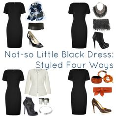 How to style a not so little black dress four ways by Alison Gary for Wardrobe Oxygen