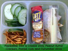 Pizzadillas (pizza quesadillas) school lunch
