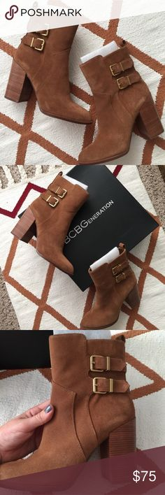 NWT BCBG Suede Booties 🎉 Beautiful, brand new in the box ankle booties by BCBGENERATION. Size 9, suede! Perfect for any occasion! staple bootie for your closet. Literally just sitting in a box, need a good home. See pictures for further details on the item. ❤️ No Trades ❤️ Reasonable offers accepted ❤️ Save by bundling 3 or more for 30% off!  ❤️ If it doesn't fit, just resell!  ❤️ Enjoy!! BCBG Shoes Ankle Boots & Booties