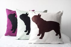 French bulldog pillow cover / Frenchie pillow / by #ItsTimeToDream #pillowcover #frenchbulldog