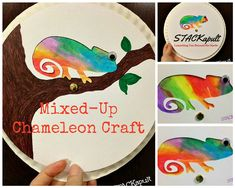 Mixed-Up Chameleon Craft from STACKapult.com                                                                                                                                                                                 More