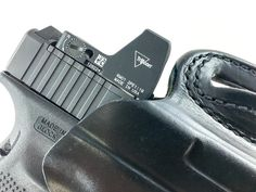 First Look: Glock 19 Modular Optic System (MOS), The Glock 19 MOS with Trijicon RMR in a DeSantis Snap Slide OWB holster.