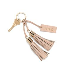 Cuyana Leather Tassel Keychain More