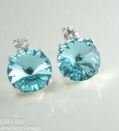www.endorajewellery.etsy.com | Tiffany blue bridesmaid earrings | Tiffany blue wedding jewelry | www.endorajewellery.etsy.com