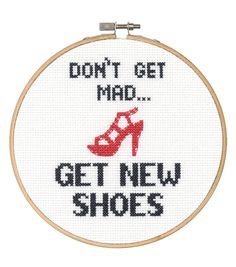 Say It! in cross stitch-Shoes