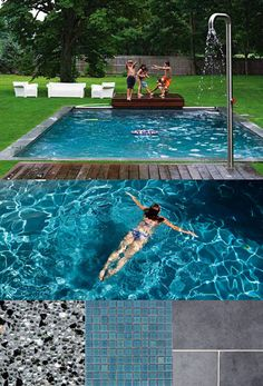 Mood Board For Swimming Pool Q Crystal Interior Bluestone Coping Blue Green Ceramic Tile Waterline Edge And Step