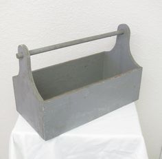 Rustic Primitive Wooden Tool Caddy by JoyfulMoonDesigns on Etsy, $37.00