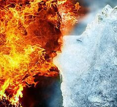 Twin flame, fire and Ice can sometimes be a good thing. Fantasy World, Fantasy Art, Fire N Ice, Twin Flame Love, Twin Flames, Fire Image, Twin Souls, Fire Art, Opposites Attract