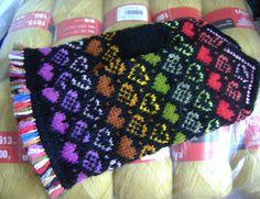 "Mittens ""Variations on a Theme Heart"" Fingerless Mittens, Knit Mittens, Knitted Gloves, Hand Knitting, Knitting Patterns, Crochet Patterns, Wrist Warmers, Hand Warmers, How To Start Knitting"