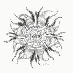 Sun mandala tattoo design