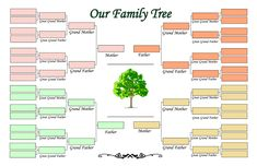 more than 100 family tree templates you can download and print for