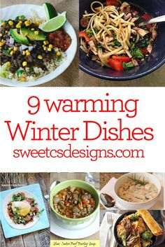 9 Comforting Winter Foods to Warm You Up- these 9 recipes are great, family pleasing ideas to keep you comforted on a cold weeknight!