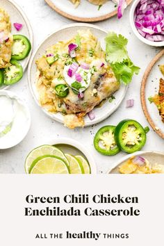 This quick and easy Green Chicken Enchilada Casserole is perfect comfort food. Filled with plenty of chicken, veggies, spices, and melty cheese it's a delicious and simple way to enjoy enchiladas.