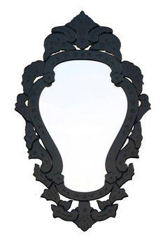 Espelho Veneziano (moldura em preto) _ L 69 x A 112cm _ 235.MIRART1