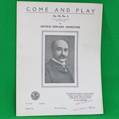 1920 Art Publication Society Teacher's Library Sheet Music, #359, Johnstone