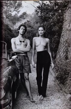 La Dolce Carla - Vanity Fair November 1992 - Carla Bruni by Helmut Newton
