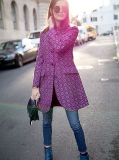 Why not try a retro printed coat this winter?
