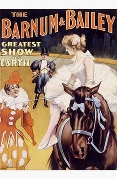 Vintage Barnum & Bailey Circus Poster i love vintage circus things Old Circus, Circus Art, Circus Theme, Circus Clown, Circus Train, Circus Birthday, Birthday Parties, Vintage Circus Posters, Retro Poster