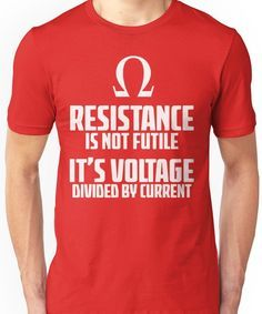 Men's Clothing Tops & Tees Funny T Shirt Electrician Joke Science Cool Casual Pride T Shirt Men Unisex New Discounts Sale Mens Voltage Divided By Current T-shirt