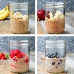 Healthier Instant Oatmeal 4 Ways