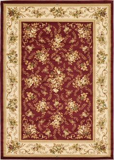 Red 8' 2 x 11' 6 Classic Aubusson Rug | Area Rugs | eSaleRugs