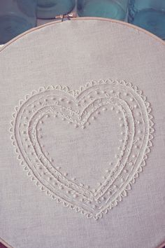 Embroidered Heart tutorial by A Feathered Nest.