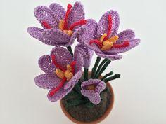 Il Blog di Sam: Spiegazione del fiore dello zafferano all'uncinett...
