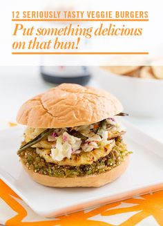 We are loving the teriyaki-glazed brown rice burgers with grilled pineapples.