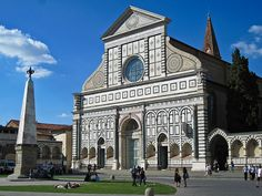 Santa Maria Novella - Alberti (upper section of the facade) - begun 1456. Florence - Italy