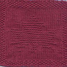 Maple Leaf Knit Dishcloth