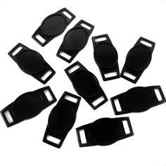 Paracord Ninja - Black Oval Paracord Charms with Epoxy Stickers | 12 x 16mm, $1.60 (http://www.paracordninja.com/black-oval-paracord-charms-with-epoxy-stickers-12-x-16mm/)
