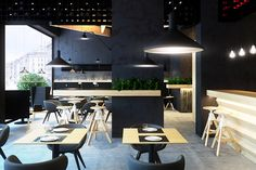 Bristol 2 caffee bar concept by Umbra Design Ivano Frankivsk, Ukraine Bar Interior Design, Restaurant Interior Design, Cafe Interior, Cafe Design, Interior And Exterior, Commercial Interior Design, Commercial Interiors, Cafe Bar, Opening A Cafe