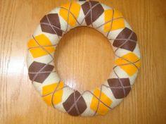yarn wreath argyle