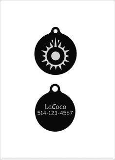 Star War Block Sun/Quiet dog tag Plastic pet tags by LaCoco725
