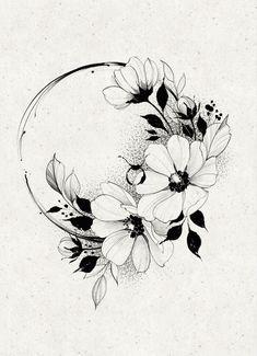 Floral Tattoo Design, Mandala Tattoo Design, Flower Tattoo Designs, Rose Tattoos, Flower Tattoos, Girl Tattoos, Medium Tattoos, Small Tattoos, Ink Tattoo
