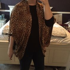 Cheetah Print Kimono •PERFECT CONDITION• worn once! Such a fun addition to an outfit! Great for fall/winter or over a swimsuit in summer! •Make an offer! Anything is negotiable!• listed as Zara for exposure Zara Tops