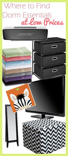 Find Dorm essentials you can afford