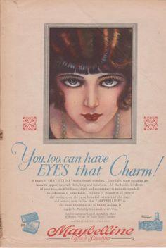 Vintage Flapper Maybelline Ad
