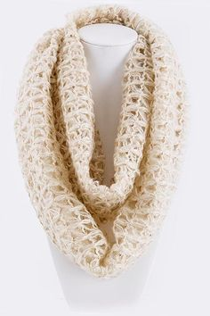 Infinity SCARF KNIT Natural wheat warm scarf