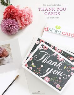 Greeting Cards,Sample Printable Card And Flower Clip Art For Thank You Card,Bright Flower Themed For Thank You Card