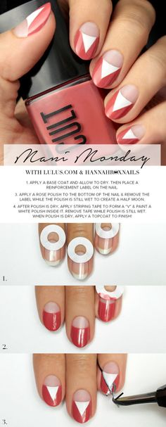 Mani Monday: Marsala Negative Space Nail Tutorial